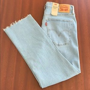 Levi's mile high cropped flare jeans